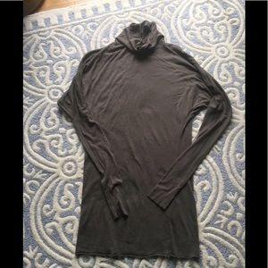 Rick Owens Lilies jersey knit dress brown 12